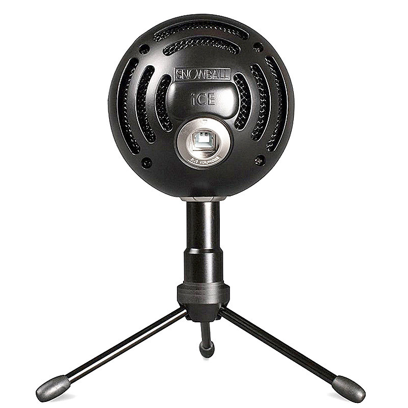100% Original Blue Snowball ICE Condenser Microphone for Computer Cardioid Black color-in Microphones from Consumer Electronics    2