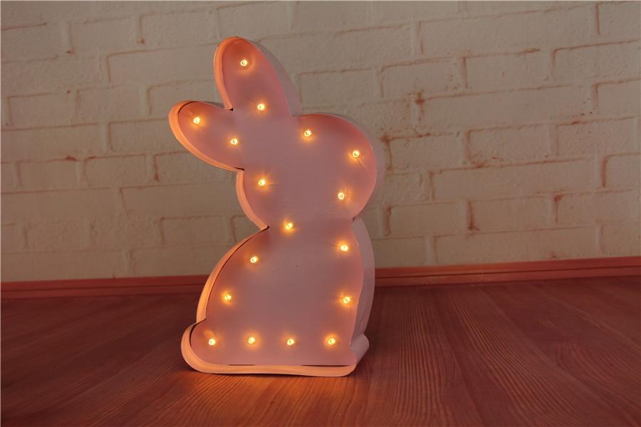 Dovşan İşıq Dovşan Party Lampası LED Marquee Məktubu Heyvan - Gecə işığı - Fotoqrafiya 2