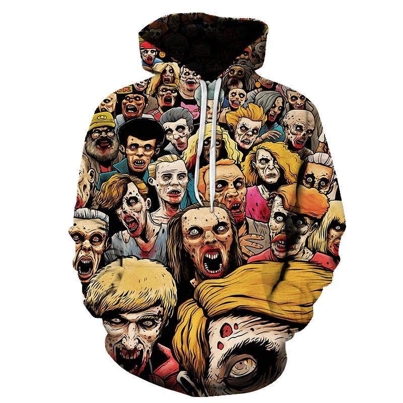The Walking Dead Cool Men Hoodies 2019 New Arrival Warm High Quality Sweatshirt Hooded Men Punk Rock Hoodie Streetwear
