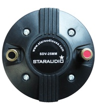 STARAUDIO 25 MM 1000 W 8 Ohms Screw-On Altofalante do Chifre Tweeter Driver de Compressão de Titânio SDV-25MM