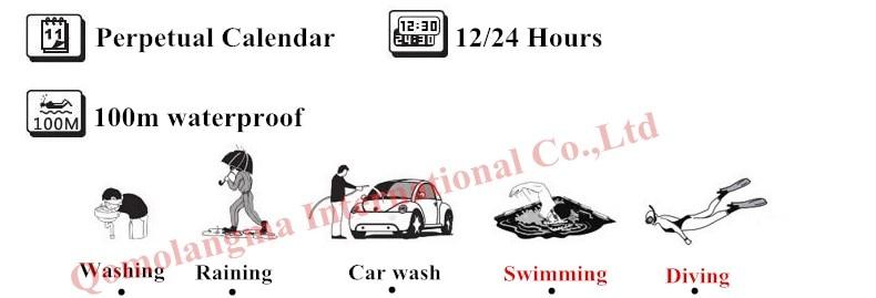 relógios à prova dwaterproof água 100m diversão