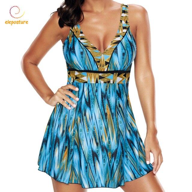 جديد قطعة واحدة ملابس السباحة حجم كبير ملابس النساء Vintage ثوب السباحة تنورة لباس سباحة ملابس للنساء حجم كبير ملابس السباحة