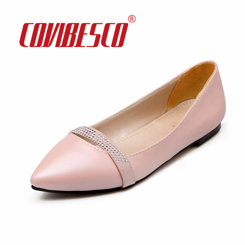 COVIBESCO Women Spring Summer Shoes Fashion Women Flats Shoes Pointed Toe Glitters Casual Sapatos Femininos Ballet Flats Shoes new 2017 spring summer women shoes pointed toe high quality brand fashion womens flats ladies plus size 41 sweet flock t179