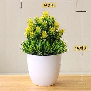 Image 5 - نباتات اصطناعية جديدة بونساي أصيص شجرة صغير نباتات زهور مزيفة بوعاء زينة للمنزل ديكور حدائق الفنادق