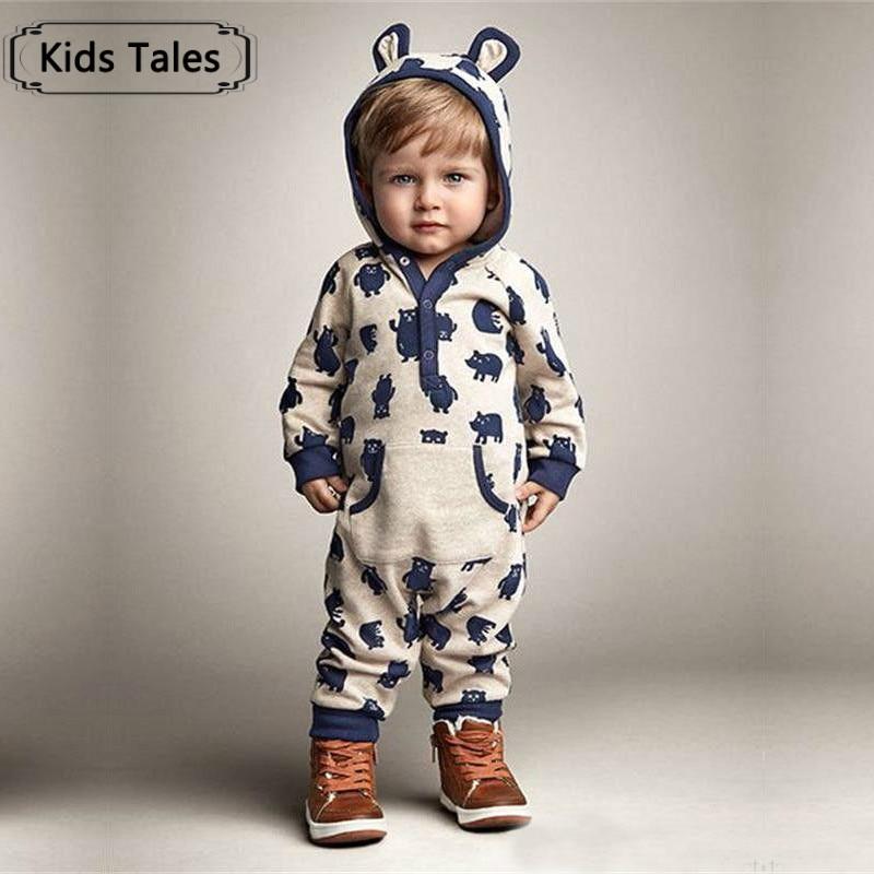 Children Baby Boys Girls Warm Infant Sliders Overalls Cute ...