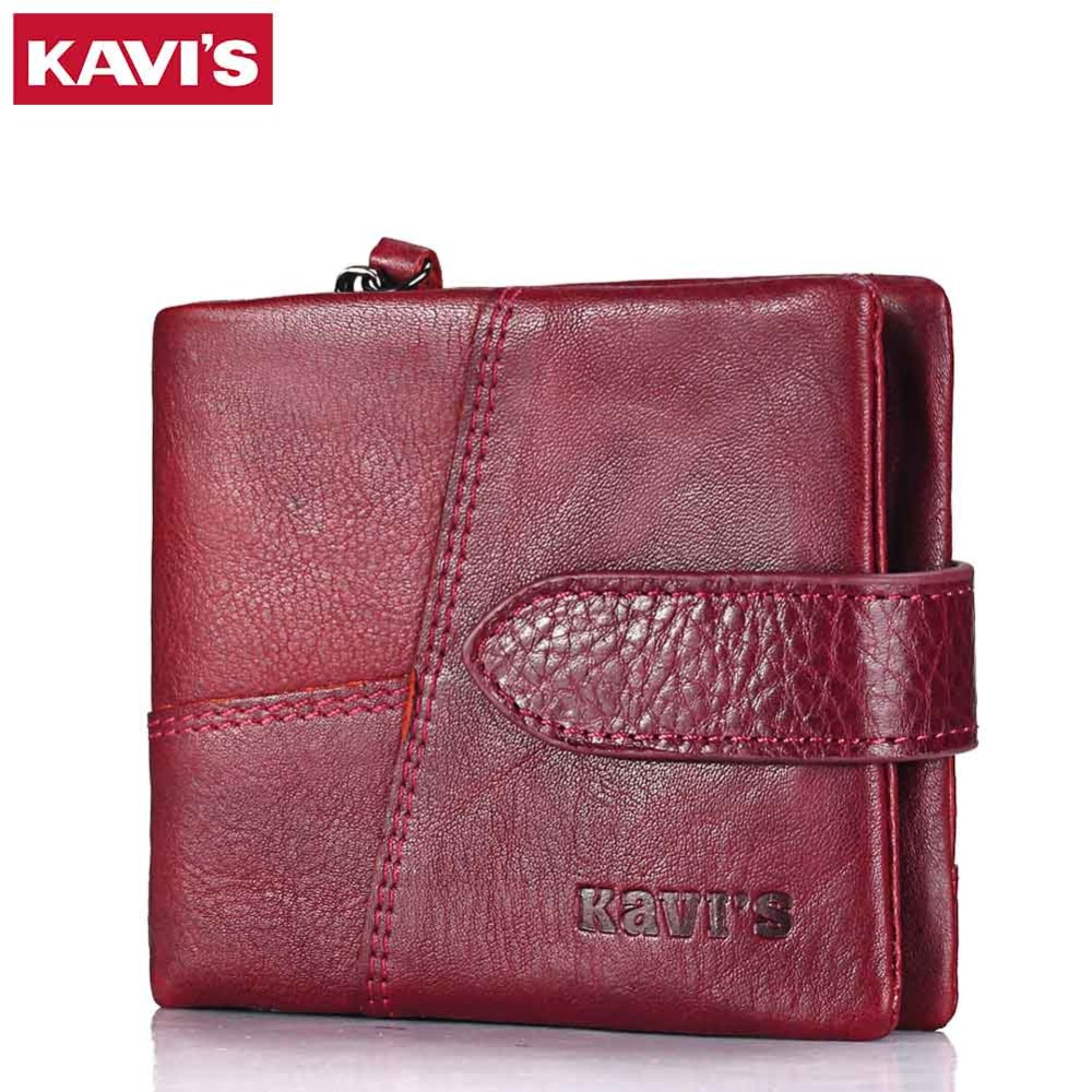 KAVIS 2017 New Genuine Leather Women Wallet Female And Coin Purse Small Walet Mini Portomonee Lady Holder Pocket Perse For Girls