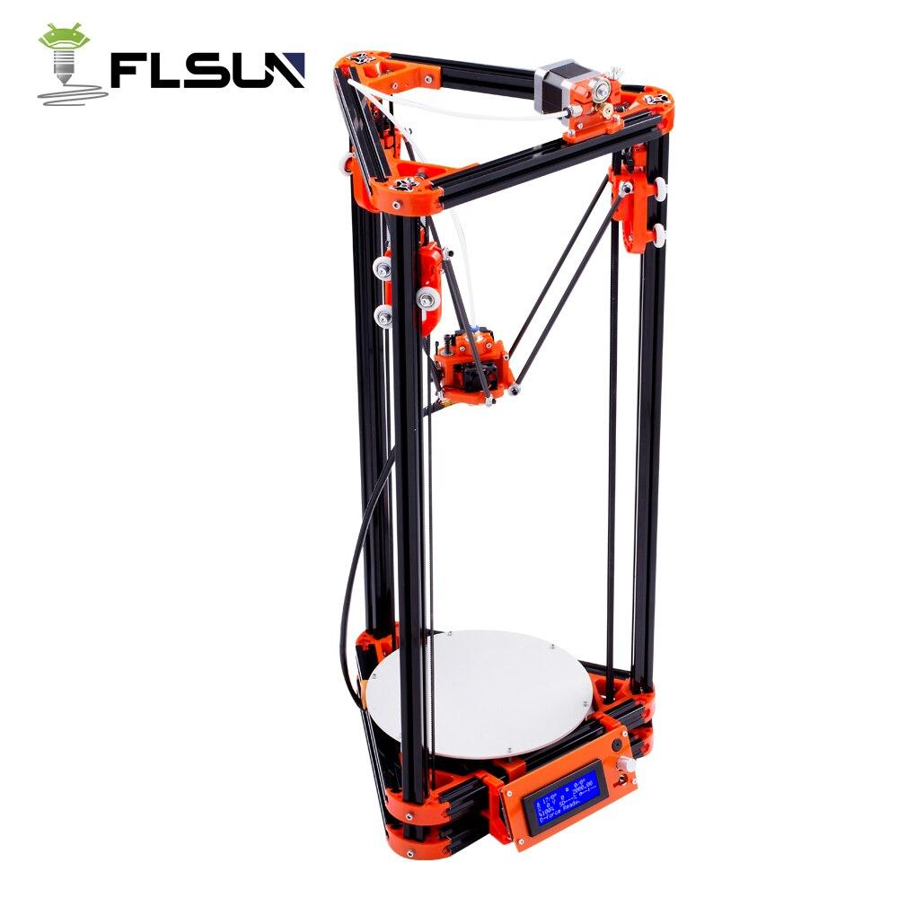 Gratuite De Russe Flsun Kossel Imprimante 3D Zone D'impression 240*285mm Avec Chauffée Lit Auto Nivellement