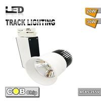 Factory directly sale international universal 5pcs 20W COB Led Track Light Wall Lamp Tracking Soptlight led AC85 265V light