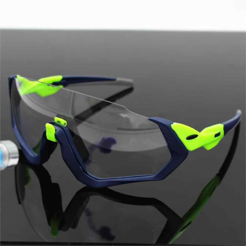 bb5c690fd Photochromic Goggles Outdoor Sports Bicycle Sunglasses bicicleta MTB  Cycling Glasses Eyewear uv400 Flight jackets Motorcycle