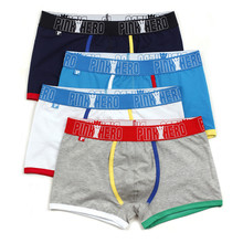 Pink Heroes men underwear wholesale Cotton Gay Mens Underwear Boxers Brand Penis Pouch U Convex Man Underpants Waist