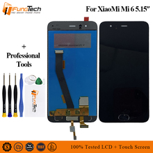 With Fingerprint For Xiaomi Mi 6 LCD Display+Touch Screen Digitizer Assembly 1920x1080 5.15  Mi6 Replacement