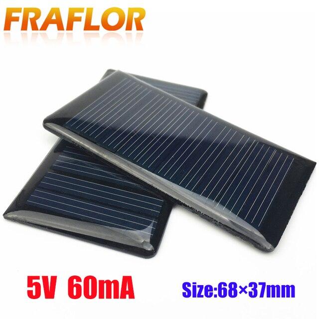 10 adet/grup toptan 5V 60mA epoksi güneş paneli Mini güneş hücreleri polikristal silikon güneş DIY güneş modülü ücretsiz kargo