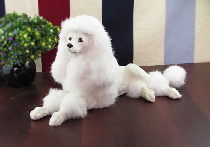 big new simulation lying dog toy lovely white poodle model gift about 15x40x21cm big new simulation duck toy lovely white lifelike duck about 25x14x38 5cm