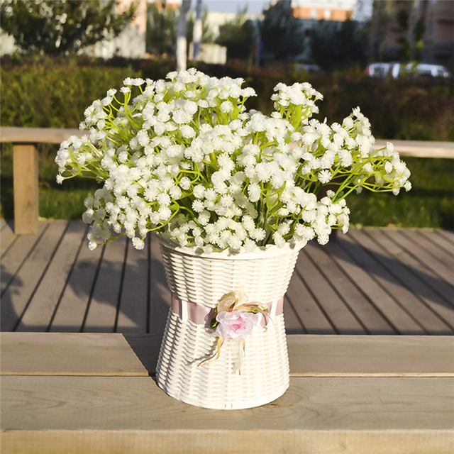 Aliexpress buy 2pcslot artificial white gypsophila flower 2pcslot artificial white gypsophila flower decorative fake flowers decorative for home wedding bride biouquet mightylinksfo