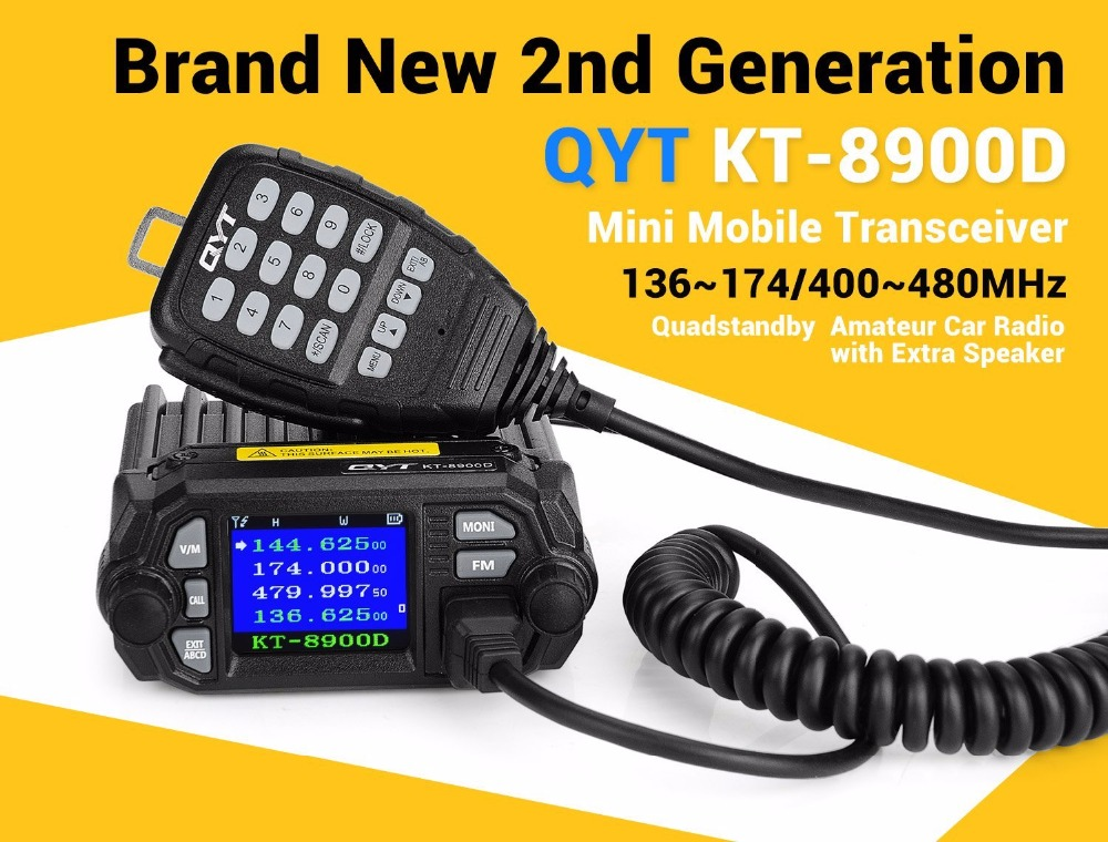 Image 2 - 100% Original QYT KT 8900D Dual Band Quad Vehicle Car Radio 136 174/400 480MHz Mobile Radio Transceiver Vehicle Muted-in Walkie Talkie from Cellphones & Telecommunications