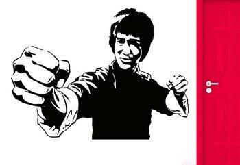 Pegatinas de pared de estrellas de Kung Fu Bruce Lee, imagen de celebridad, pegatinas de vinilo para pared, película entusiasta, pegatinas de pared DY31