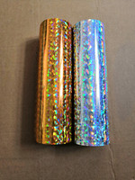Holographic foil broken glass pattern gold color or silver color hot stamping foil on paper or plastic 64cm x 120m