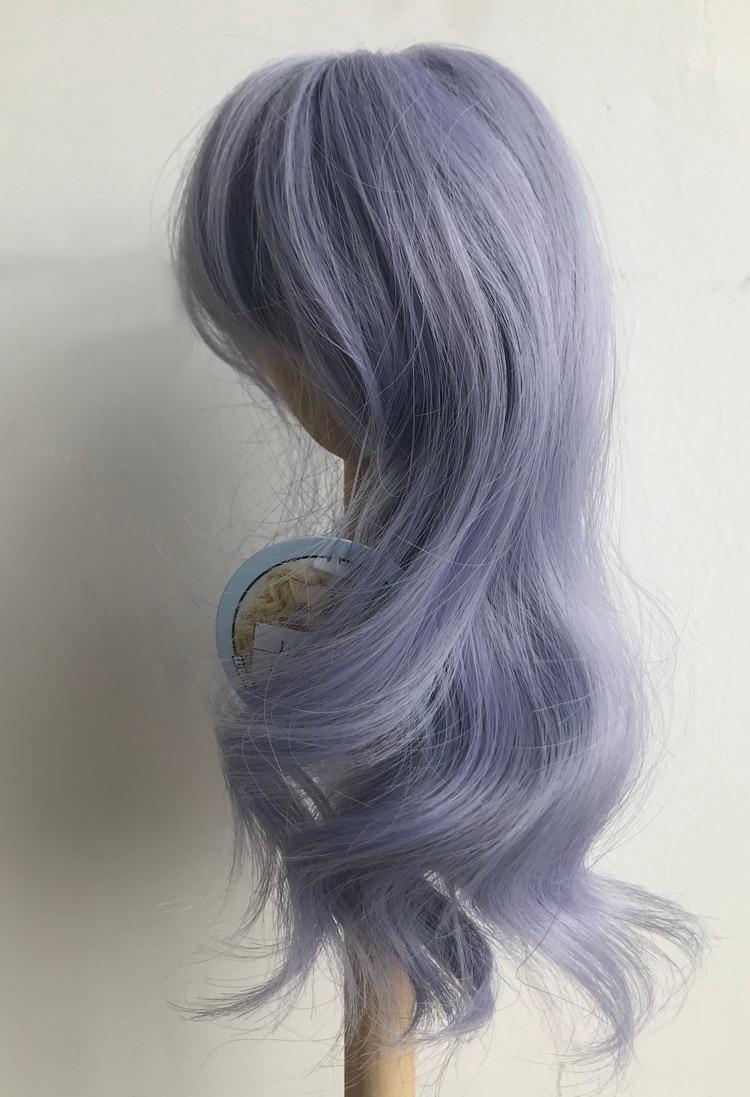 Muziwig perucas de cabelo encaracolado roxo de