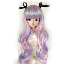 BJD SD doll wig seven color long hair bow night loli 100% high quality high temperature fiber 21 color 1/3 1/4 1/6 1/8