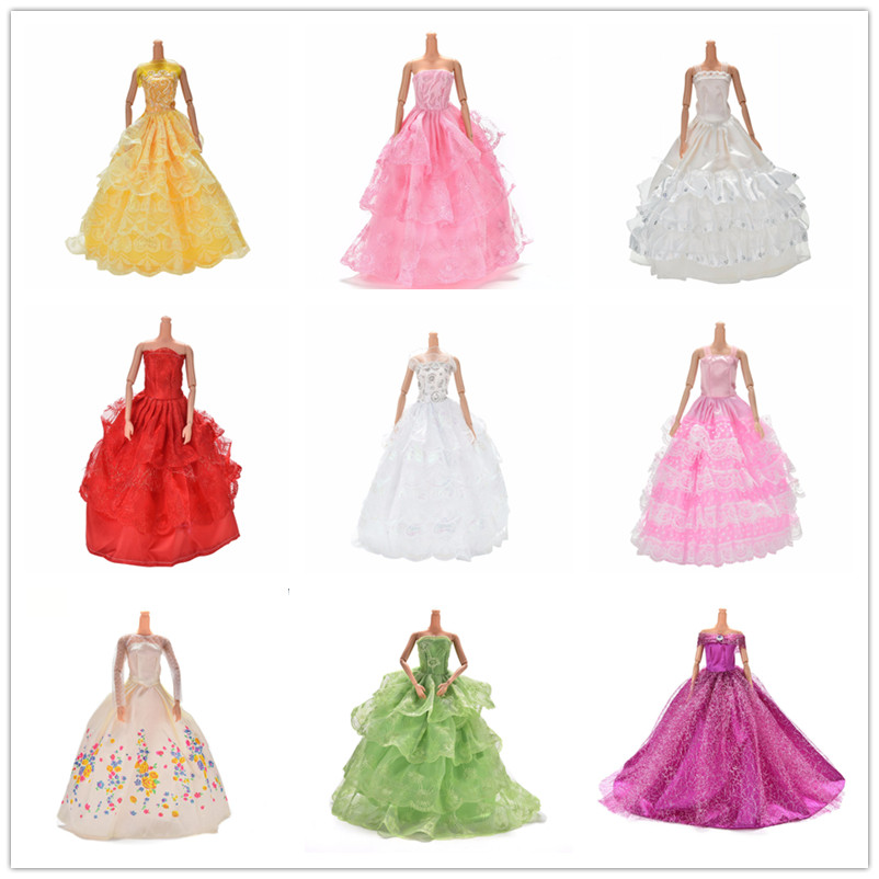 1Piece   Evening     Dress   For Doll Multi Layers Wedding   Dress   Furniture For Doll Clothes For Doll Accessories or Shoes