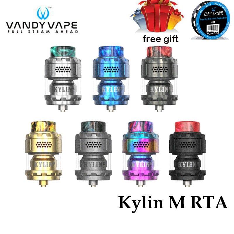 Original Vandy Vape Kylin M RTA Rebuildable Tank Atomizer 3ml/4.5ml Electronic Cigarettes Box Mod Vape Vaporizer