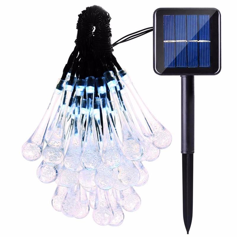 LED luces solar forma de gota  (2)