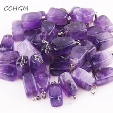 ФОТО aaaa+ with chain natural amethysts pendant health lucky irregular shape stone crystal pendants necklaces small jewelry for women