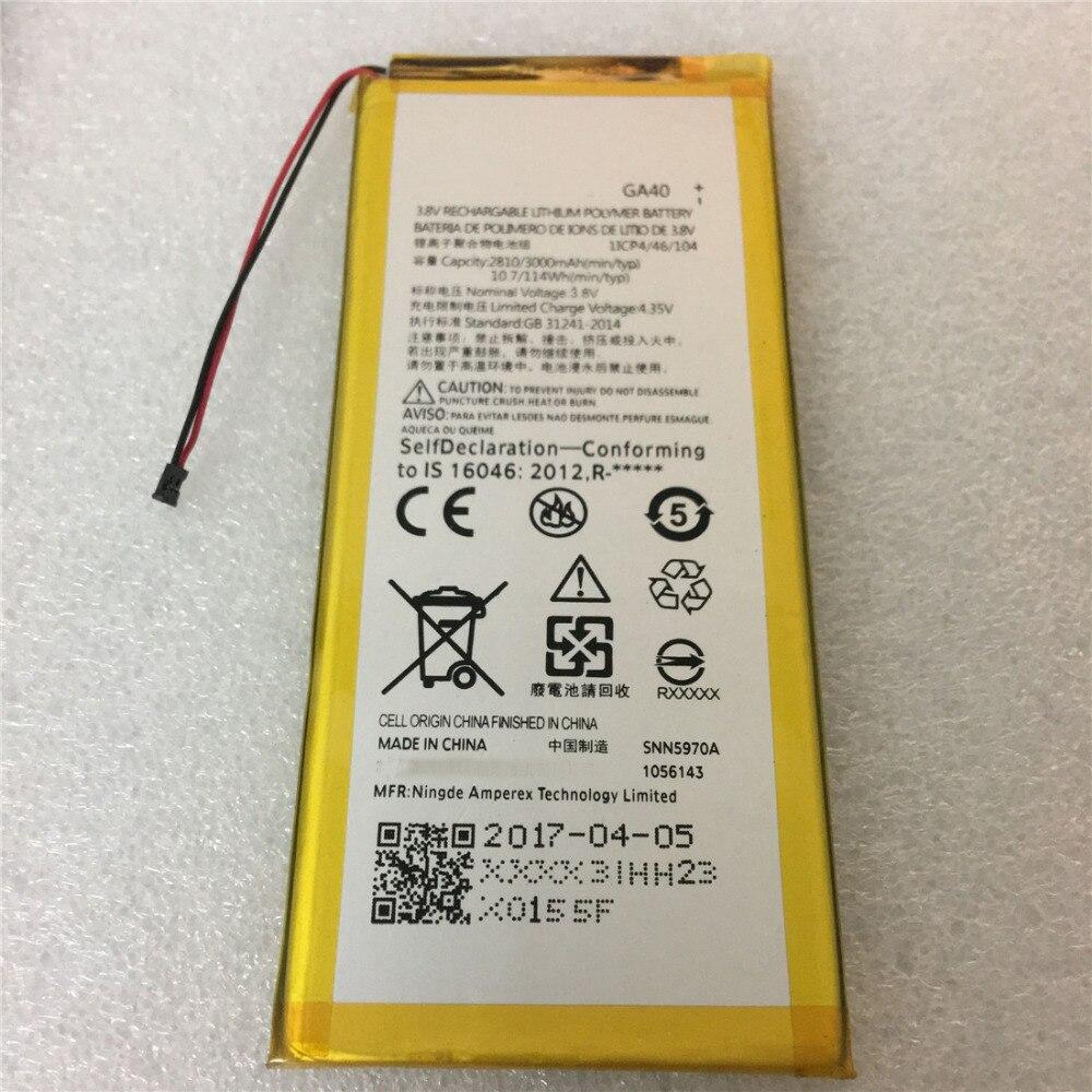 1x3000 mAh GA40 batterie li-polymère de remplacement pour Motorola Moto G4 Plus GA40 GA 40