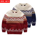 Boys Sweater Kids Autumn 2016 Casual Striped Pattern Cotton Warm Sweater Boy Knitted 4Y-8Y Long Sleeve O-neck Children's Sweater