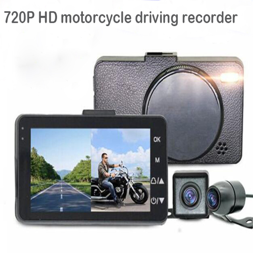 Motorcycle Driving Recorder HD 720P Split Waterproof Double Lens Camcorder Actie Kleine Camera Video DV Portable Camcorders