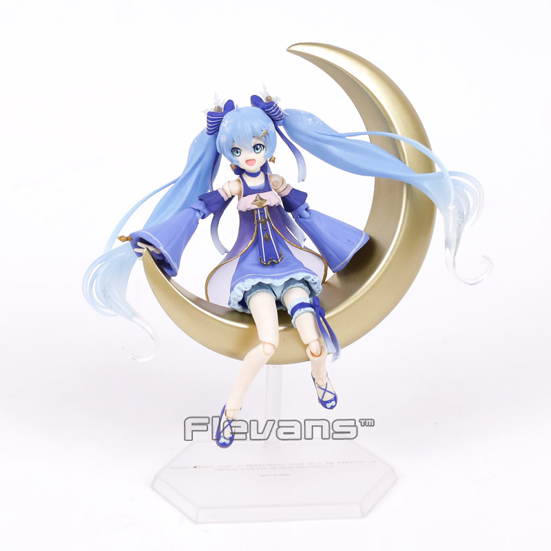 Anime Vocaloid Hatsune Miku Figma EX-037 Twinkle Snow Ver.PVC Action Figure Collectible Model Toy 14cm anime vocaloid hatsune miku figma ex 037 twinkle snow ver pvc action figure collectible model kids toys doll 14cm