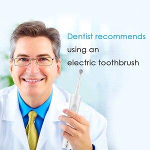 Image 2 - Elektronische zahnbürste elektrische zahnbürsten vibrations Wiederaufladbare zahn pinsel dental care USB ladung zähne reinigung für erwachsene 4