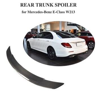 Carbon Fiber Rear Trunk Spoiler  Boot Lip Wing For Mercedes-Benz E Class W213 E200 E43 E53 E63 AMG S 4-Door 2016 - 2019