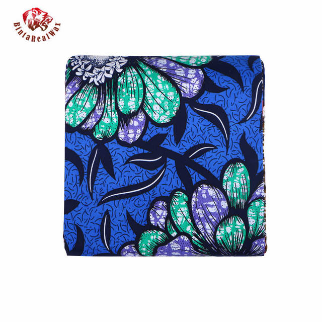 Wax Hollandais New Arrival  2018 Ankara Super Polyester Wax High Quality 6 yards  African Fabric for Party Dress pl569 1