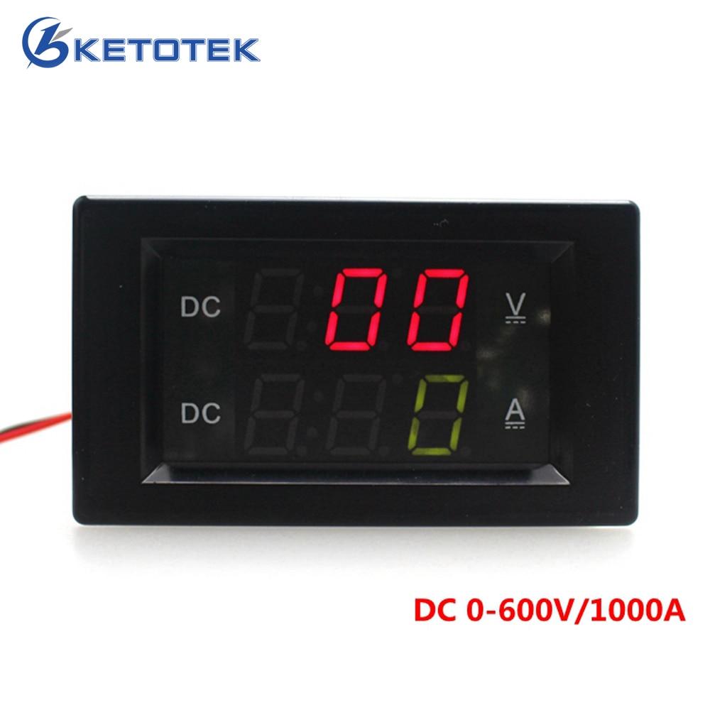 DC 0-600V/1000A Voltage Ampere meter led panel digital Voltmeter Ammeter Power supply DC 3.5-30V цена