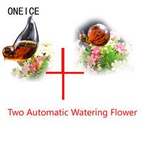 Birds Shape Glass Automatic Watering Easy Garden Watering System Plant Dripper Watering Automatic Garden Watering System Indoor