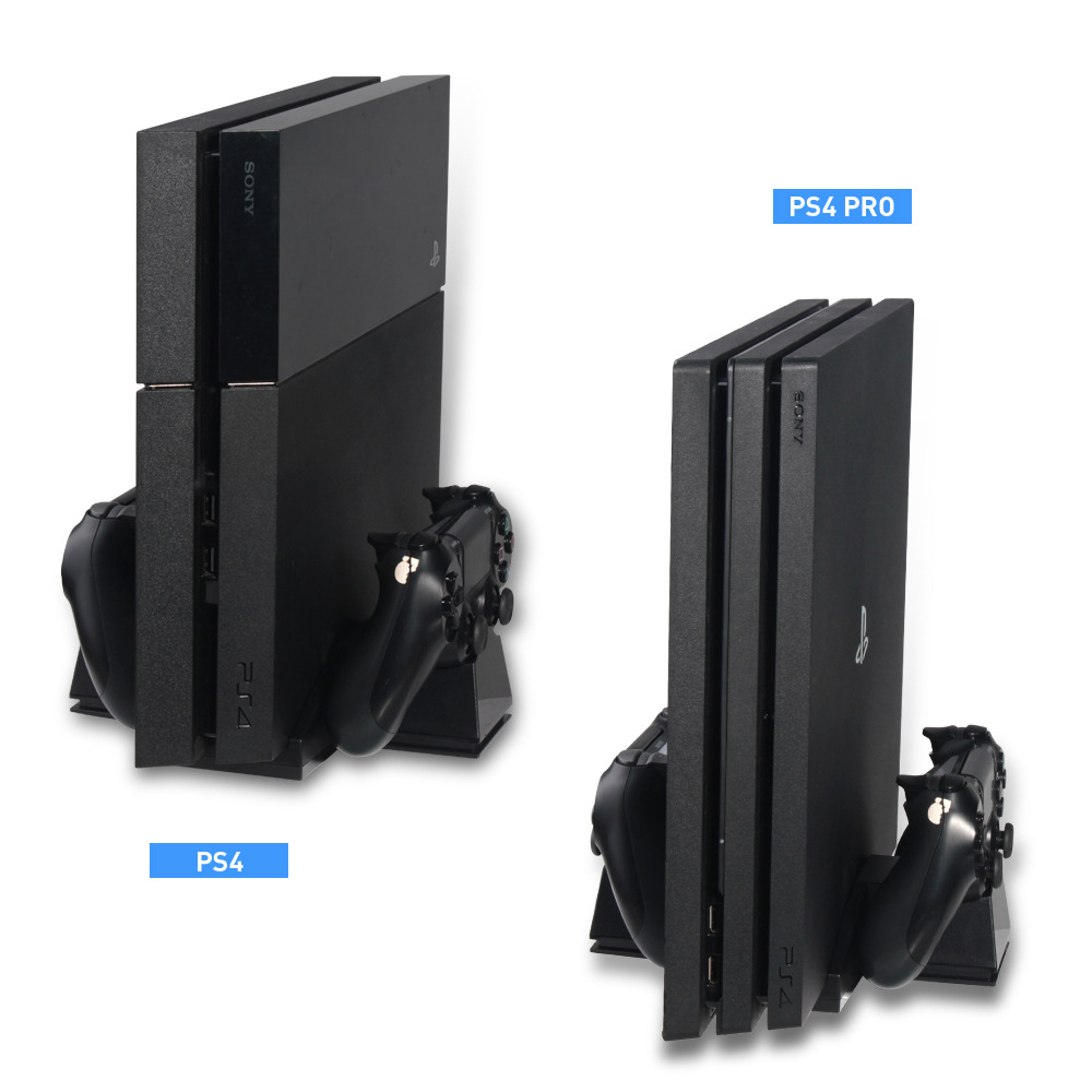 Controller Cooling Charging Station Charger Stand With USB HUB For And Game Discs Storage Rack For PS4 / Playstation 4 Console
