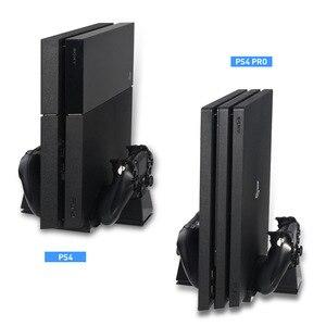 Image 2 - Controller Kühlung Ladestation Ladegerät stand mit USB HUB für und Spiel Discs Lagerung Rack für PS4/PlayStation 4 konsole