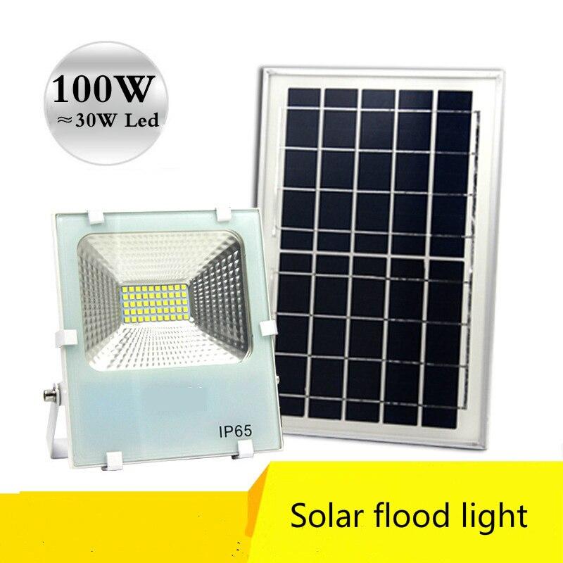 Factory Shop Solar Lights: Solar Flood Light 30 50 100 W Brightness Garden Street