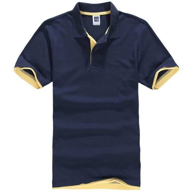 2016 New Fashion  Camisetas Short Sleeve Polo Masculinas Turn Down Collar Summer Casual Men's Polo Shirt 15 Colors