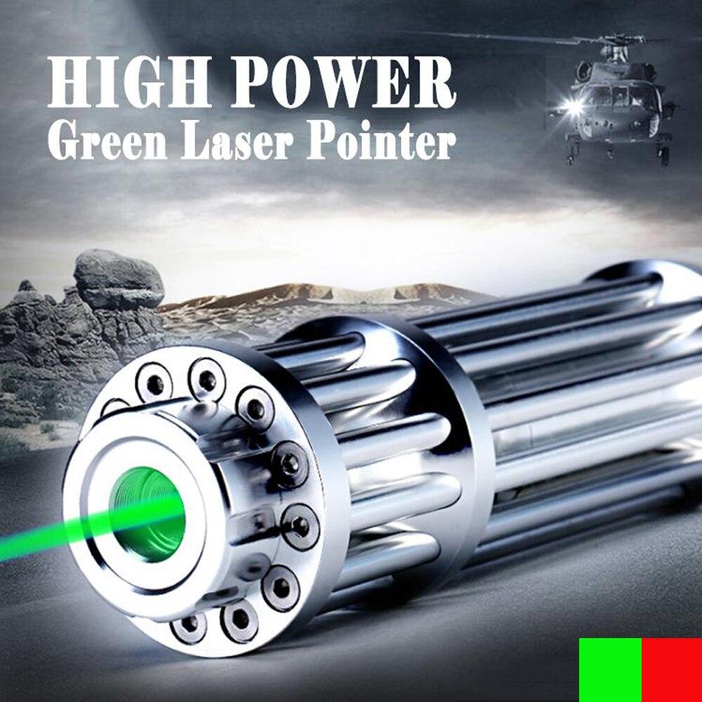 B017 Hunting High Power 10000 m 532nm ponteiro laser Verde Linha Contínua 500 to1000 metros Queima caneta Laser Vermelho