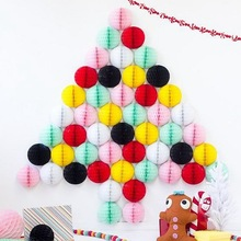 40pcs 8cm Tissue Paper Honeycomb Balls Decoration Wedding Party Birthday Baby Shower Home