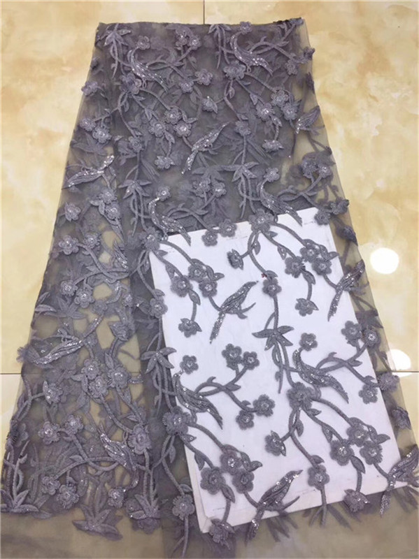 Nigerian Lace Fabrics For Wedding 2018, African French Lace Fabric High Quality  Lace, Lace With Sequins White(DP-12-18Nigerian Lace Fabrics For Wedding 2018, African French Lace Fabric High Quality  Lace, Lace With Sequins White(DP-12-18