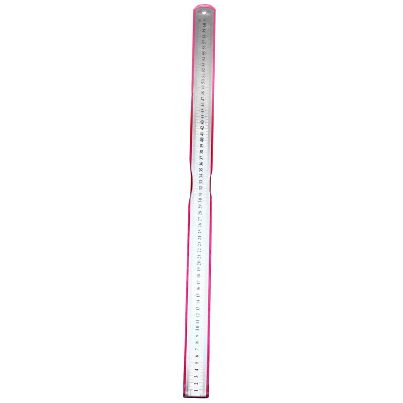 Stainless Steel Double Side Measuring Straight Edge Ruler 60cm/24