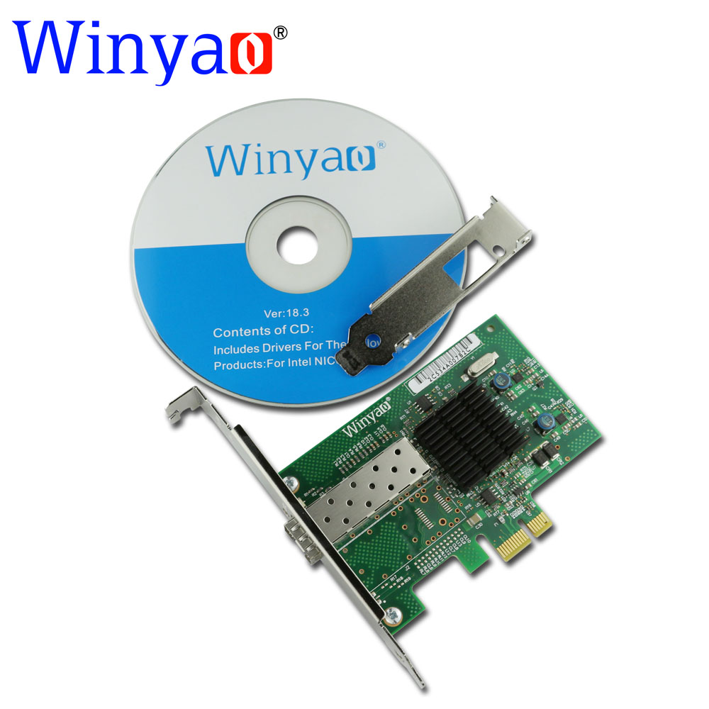 все цены на Winyao WY576F1SFP PCI-Express 2.0 x1 SFP Fiber Gigabit Ethernet Network Adapter(NIC) Intel 82576 E1G42EF lan онлайн