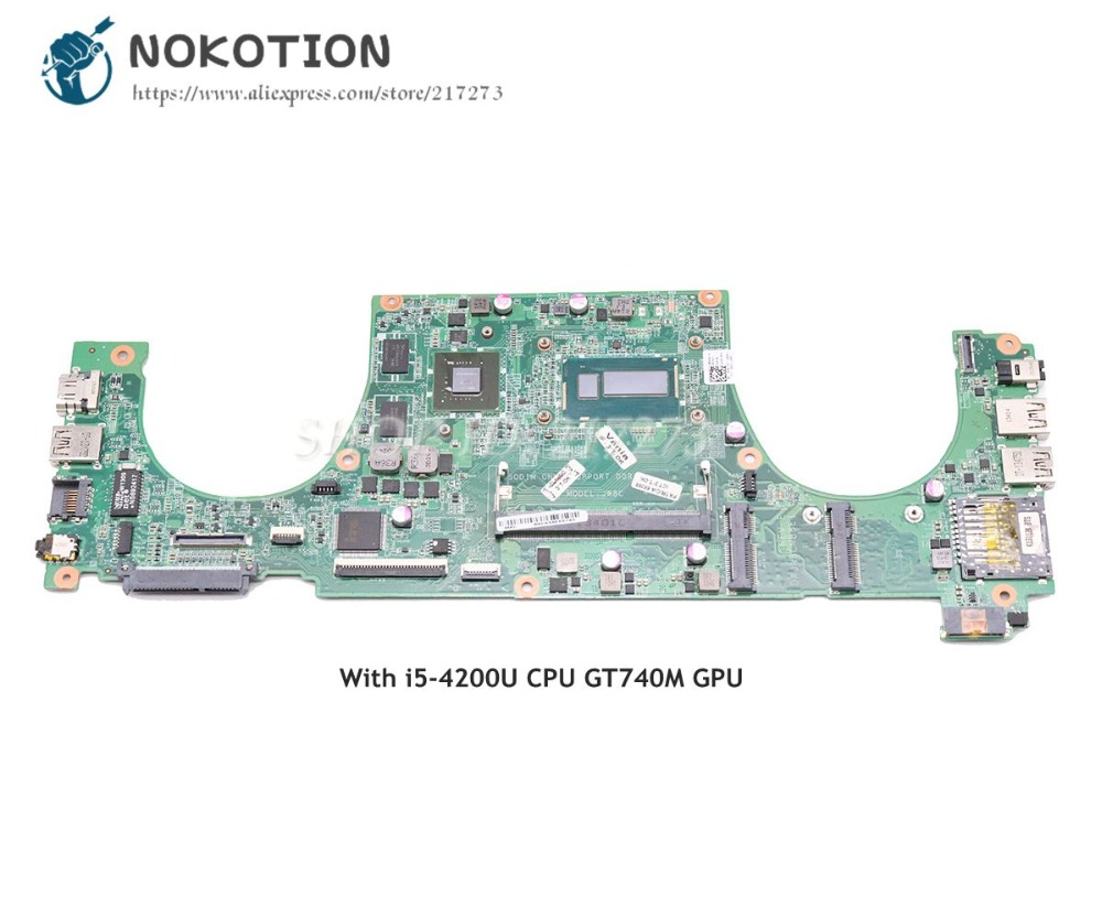NOKOTION DAJW8CMB8E1 CN-0JPMWP 0JPMWP Laptop Motherboard For Dell Vostro 5470 Main Board SR170 I5-4200U CPU GT740M Graphics