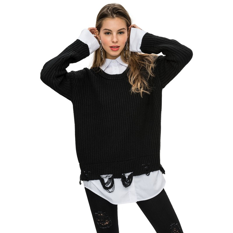 Sweaters befree 1731540888 woman jumper sweater clothes apparel turtleneck pullover for female TmallFS sweaters modis m181w00463 woman sweater jumper turtleneck pullover for female tmallfs