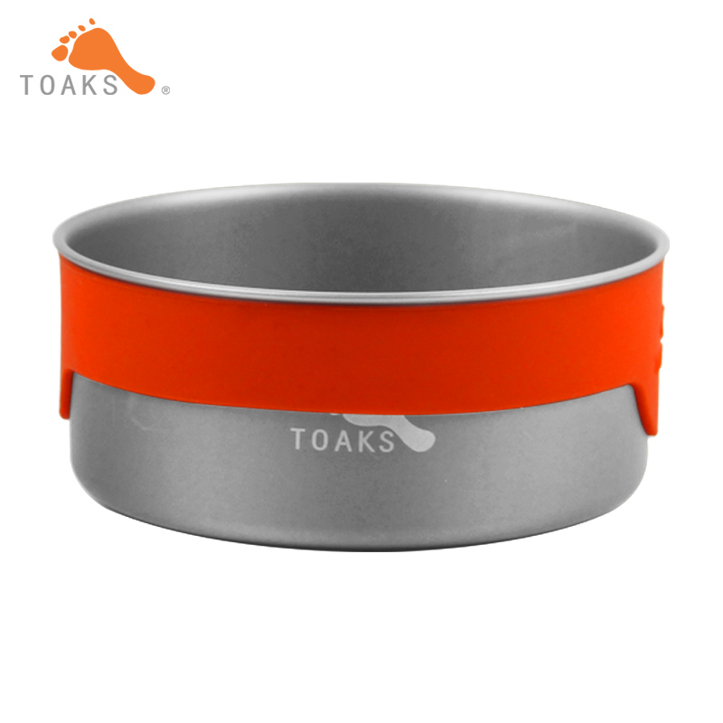 TOAKS Metal Bowl Anti hot 380ml Outdoor Single Wall Tableware bowl Ultralight Titanium Bowl For Home