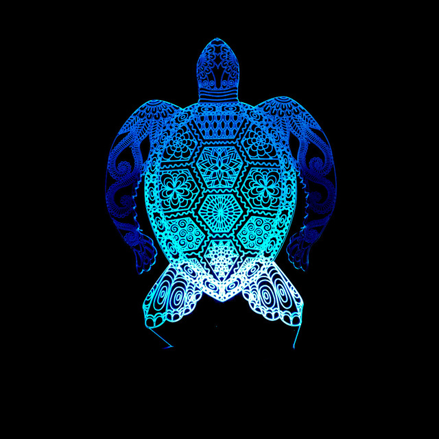 2018 New Sea Turtles 3d Lamp Led Night Light Touch Light Colorful