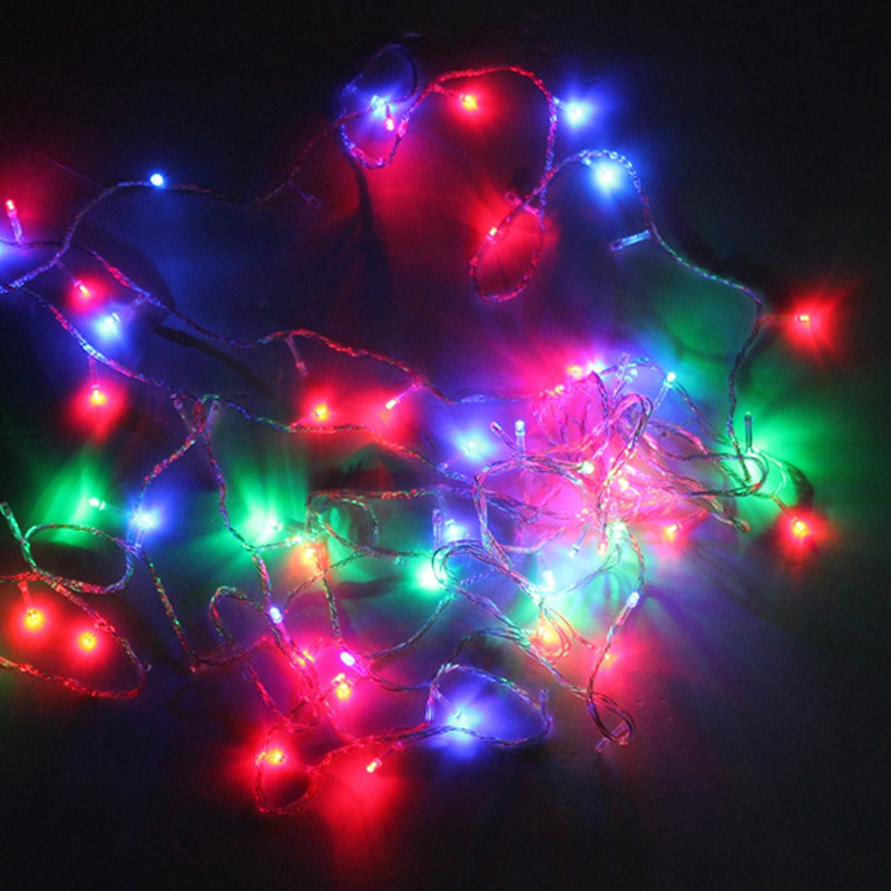 Smuxi 10M Colorful RGB 100 LED String Lights Christmas Festival Wedding Party Garland Decoration Fairy Lights LED Strip все цены